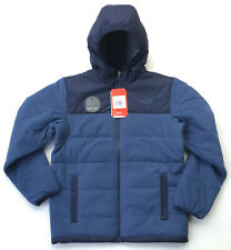 NEW NORTH FACE BOYS REVERSIBLE TRUE OR FALSE JACKET INSULATED BLUE L LARGE 14 16