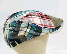 Men's JAMONT FASHION  STYLE golf Multicolor Plaid size med Adjustable Ascot Hat