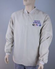 2006 NFL Super Bowl Official Tan Windbreaker Jacket Detroit Men's M [DEADSTOCK]