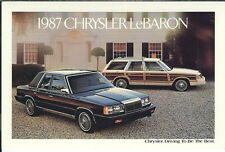 MA-053 - 1987 Chrysler LeBaron, Howard Auto Sales Marion IN Advertising Postcard