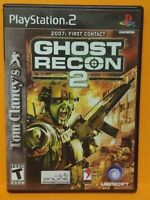 Ghost Recon 2 Tom Clancy's  PS2 Playstation 2 COMPLETE Game 1 Owner  Mint Disc