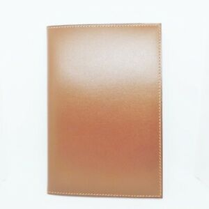 Auth HERMES Dark Brown Leather Square F Accessory Case