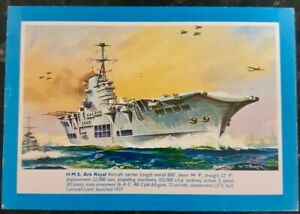 H.M.S. ARK ROYAL - POST CARD - POSTED