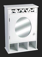 Aspect Ellsworth Seashell Design Bathroom Wall Mirror Storage Cabinet MDF 40 X