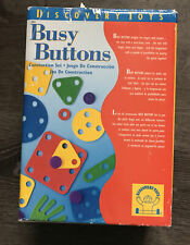 Discovery Toys Busy Buttons Construction Set 36 Shapes 24 Buttons Pattern Book