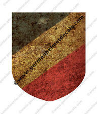 Pre aged WW II German helmet decal - National shield Tri color for M35 M40 M42