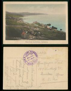 Mayfairstamps Barbados 1930s Sea Coast Bathsheba to US Colored Picture Postcard