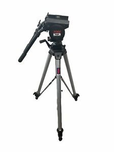 Manfrotto Bogen 3066 With 3068 Professional Tripod 2 Handles Missing Head Plate