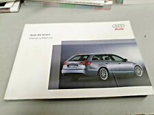 2005 AUDI A6 AVANT  Original Factory Owners Manual NOS
