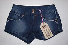 Girls YMI Jean Shorts DARK BLUE DENIM Low Rise DISTRESSED Size 7