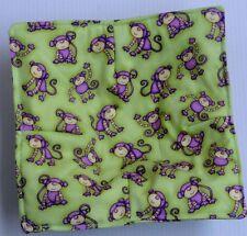 Monkeys dressed Microwave hot bowl holder FREE US SHIPPING cotton reversible