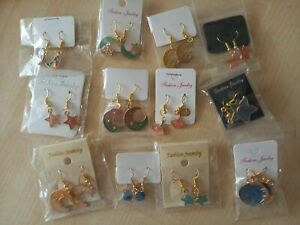 BRAND NEW VARIOUS SUPER SKY THEMED DROP/DANGLE EARRINGS - U.K SELLER