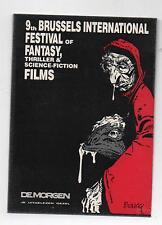 Carte publicitaire pour le 9e Festival du film de Bruxelles. BOUCQ. (réf. 75/16)