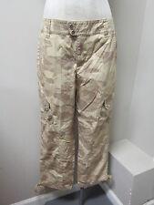 Lauren Active Ralph Lauren Cotton Camo Crop Pant 8 Beige NWT $99.50