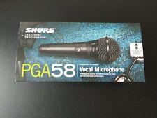 Shure PGA58 XLR E  , vocal microphone cardioid dynamic