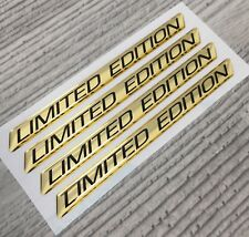 Limited Edition GOLD chrome BMW, VW, Porsche domed emblem decal stickers