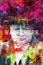 """Winston Churchill impresión de arte """"Colourburst"""" Foto Poster Regalo Segunda Guerra Mundial la Segunda Guerra Mundial Guerra Mundial"""