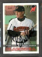 2003 Grandstand #29 Tim Blackwell High Desert Mavericks Signed Autograph (D94)