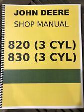 820 3 Cylinder Diesel John Deere Technical Service Shop Repair Manual