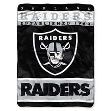 Oakland Raiders Football Fan Team Warm Fleece Plush Throw Blanket 60 x 80