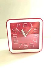 """White and Red Square Standing Clock 6"""" Great Gift and Room Decor"""