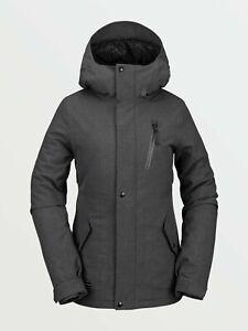 2021 NWT WOMENS VOLCOM ASHLAR INSULATED JACKET $200 S Dark Grey standard fit