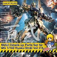 Metal Details up Parts Set for Bandai MG 1/100 Hyaku Shiki ver 2.0 Gundam Model