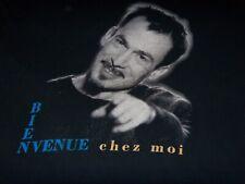 """FLORENT PAGNY VINTAGE TEE SHIRT """" BIENVENUE CHEZ MOI TOUR 1996 """" XL COLLECTOR"""