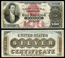 NICE CRISP UNC. 1878 $100.00 SILVER CERTIFICATE COPY PLEASE READ DESCRIPTION