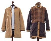 Women's BARBOUR Soft Cotton Newmarket Jacket Coat Beige Size UK 14 US 10
