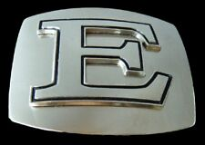 E ALPHABET NAME INITIAL BELT BUCKLE RODEO WESTERN BOUCLE DE CEINTURE