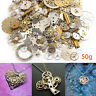 50g Lot Vintage Steampunk Watch Old Parts Gears Wheels Steam Punk Jewelry Art