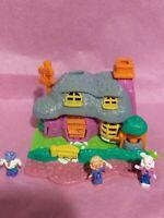 Vintage Bluebird Polly Pocket Animal Wonderland Rabbit House Complete