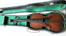 Used old violin small size cased 3/4 French violin (Michel Deconeti )Late 1800