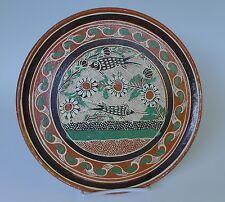 "Mexican pottery Tlaquepaque Tonala petatillo plate style of BERNABE 9 5/8"" diam."