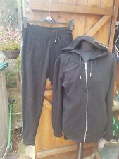 zara basics black mens track suit top l bottoms s slim fit