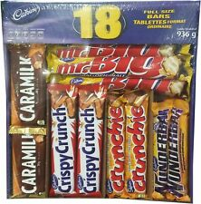Cadbury 18 Full Size Assorted Chocolate Bars, Caramilk, Mr Big, Crispy Crunch...