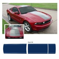 Ford Mustang 2010-2012 Center Stripe Body Graphic Kit - Blue