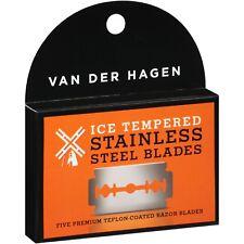 Van Der Hagen Ice Tempered Double Edge Stainless Steel Razor Blades Shaving Pack