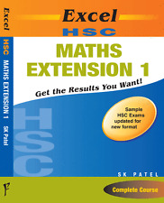 EXCEL HSC - MATH Extention 1 STUDY GUIDE By SK Patel 9781741251760 FREE SHIPPING