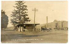RPPC NY Dundee Railroad Depot Station with Train Yates County