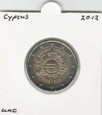 Cyprus 2 euro 2012 UNC : 10 Jaar Euro Munt