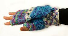 Fingerless Mittens Hand Knitted in Bolivia - Ethically sourced - Many Colours