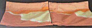 Pair of Vintage Jim Thompson Silk Pieced Pillow Covers Thai silk Co. VV406