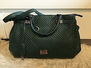 Via Roma Accessories Faux Leather Shoulder Hand Bag Large Deep Green Free P&P UK