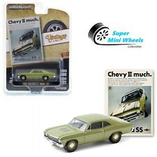 "Greenlight 1:64 Vintage Ad Cars - 1968 Chevrolet Nova SS ""Chevy II much"" 39050-A"