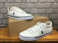 POLO RALPH LAUREN MENS UK 6 EUR 40  HANDFORD WHITE LEATHER TRAINERS RRP £75 LG