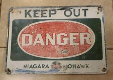 Vintage Niagara Mohawk Power Corp.*Danger-Keep Out* Metal Safety Warning Sign..