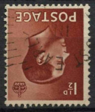 Gb Keviii 1936 Sg#459wi 1.5d Red Brown Wmk Inverted Used #A83047