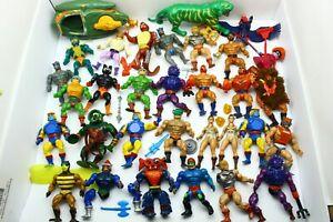Vintage Masters of the Universe MOTU He-Man Figure and Parts Lot Teela Stinkor
